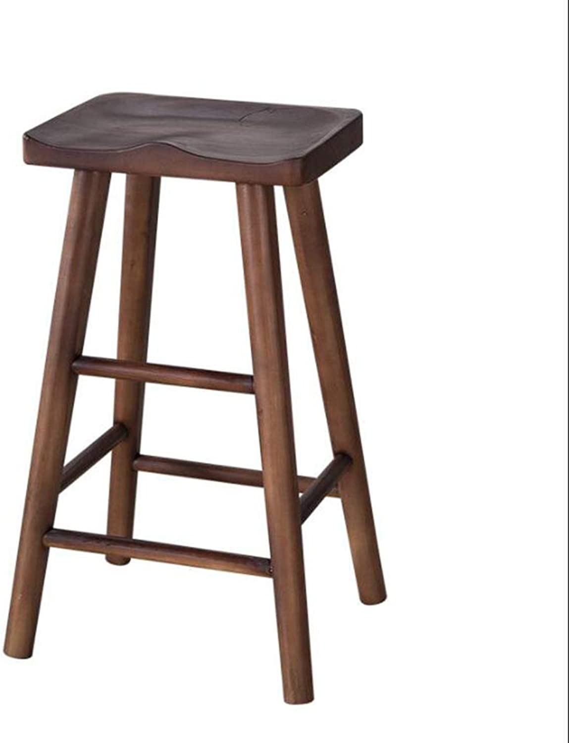 Solid Wood bar Chair, Household bar Chair Bar Stool High Chair Nordic Simple Modern High Stool, Dining Table Stool (color    2, Size   26  32  75cm)