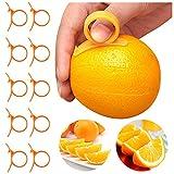 10 Pcs Orange Peelers, Round Citrus Fruit Peelers Plastic Easy Slicer Cutter Peeler Remover Opener Kitchen Accessories Knife Cooking Tool Kitchen Gadget