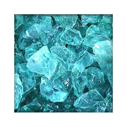 Kieskönig 980 kg Glasbrocken Glasbruch Glassteine Glas Gabione 60-120mm Türkis