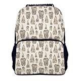 COLORFULSKY Casual Stylish Backpack for Men Women Teens Kids Bookbag, College High School Business Daypack Outdoor Travel Bag - Canine teeth