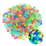 SZBLYY Piedras Luminosas Jardin Piedra Luminosa 200 Pieza/Paquete Decoraciones para el hogar 14 mm Resina guijarros Brillantes Grava Artificial adoquín jardín Patio decoración (Color : Colourful)