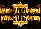 Desconocido Rompecabezas Adultos 1000 Puzzle Rompecabezas Puzzle Puerta de Brandenburgo en la Noche Regalo para niño Juegos de Bricolaje