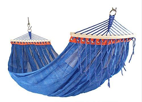 Tuinhangmat, Ice zijden hangmat, gebogen stok grote mesh hangmat, vrijetijdshangmat, buiten Anti-Side Turn reizen ademend koel
