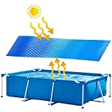 XIKUO WOCAO Cubierta de piscina de 8 pies Cubierta solar para piscina, Cubierta de piscina de polvo a prueba de lluvia de verano al aire libre, Cubierta de piscina plegable rectangular gruesa para