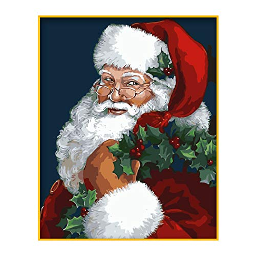 Selma. Pintura al óleo digital de Papá Noel bailarín por números, lienzo...