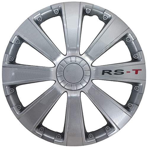 14 inch Radzierblende Felgenblende Radkappe Radblenden Satz RS-T Silber Automax