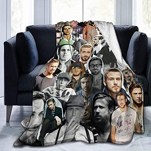 Ryan Gosling Sebastian Wilder manta suave y cómoda manta de playa, manta de picnic, manta de forro polar para sofá, cama de oficina, coche, camping, sofá de 80 x 60 pulgadas