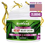 Hemp Pain Relief Cream | Arthritis, Joint, Back, Muscle, Knee & Body Pain