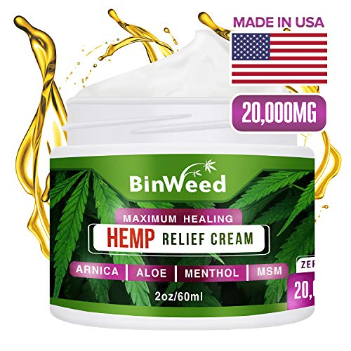 Hemp Pain Relief Cream | Arthritis, Joint, Back, Muscle, Knee & Body Pain Relief Support | Made with...