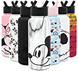 Simple Modern Disney Character Insulated Water Bottle Tumbler with Straw Lid -Reusable Stainless Steel Wide Mouth Travel Cup 32oz Bottle Mickey on Marble