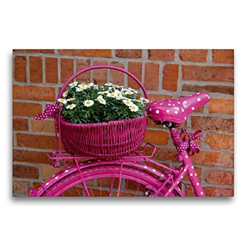 Premium Textil-Leinwand 75 x 50 cm Quer-Format Pink, Leinwanddruck von SchnelleWelten
