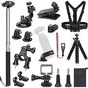 SKYREAT Erweiterungs Zubehör Kit für DJI Osmo Pocket Handheld Kamera-Halterungen Brustgurt Fahrrad Auto Rucksack Cliphalterung Stativhalter für Osmo Pocket