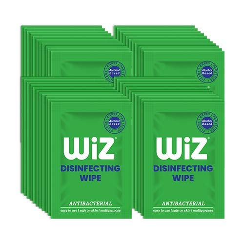 Wiz Antibacterial Easy to Use Safe on Skin Multipurpose Single Disinfecting Wipe Assorted Super Value Pack of 200