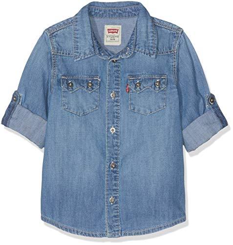Levi's Kids Levi's Kids Baby-Jungen Nn12014 46 Shirt Bluse, Blau (Indigo), 9-12 Monate (Herstellergröße: 12M)