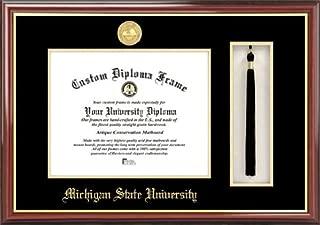 Campus Images MI987PMHGT Michigan State University, Spartan, Tassel Box and Diploma Frame, 8.5