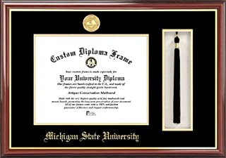 Campus Images MI987PMHGT Michigan State University, Spartan, Tassel Box and Diploma Frame, 8.5 x 11