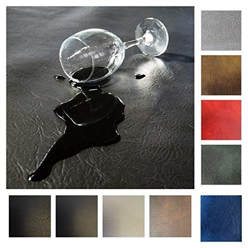 Royaltablecloth - Tissu en similicuir résistant - Qualité supérieure - Rond - 140 cm - 11 cm - Bleu marine