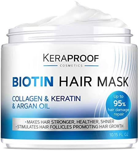 Biotin Collagen Hair Mask Keratin Leave In Conditioner for Natural Hair Growth Deep Care Repair product image