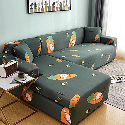 Elastiskt sofföverdrag elastiskt allomfattande sofföverdrag olika former soffa L-format sofföverdrag modulärt sofföverdrag A16 4-sits