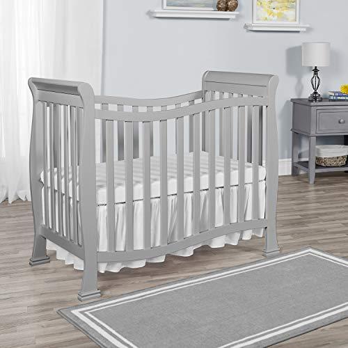 Dream On Me, Violet Mini Crib, Pebble Grey