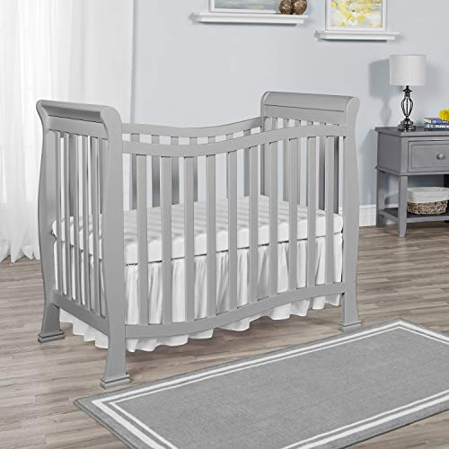 Dream On Me, Violet Mini Crib, Pebble Grey