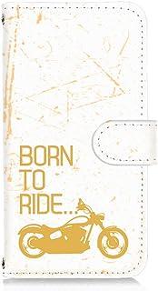 LG isai vivid LGV32 用 手帳型 カードタイプ スマホケース ビンテージ バイク・イエロー ビンテージ モーターサイクル エルジー イサイ ビビッド au スマホカバー 携帯ケース スタンド FFANY bike 00r_14...