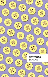Banana Notebook: (Purple Edition) Fun notebook 96 ruled/lined pages (5x8 inches / 12.7x20.3cm / Junior Legal Pad / Nearly A5)