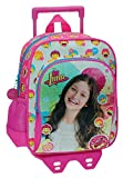 Disney Luna Icons Mochila Preescolar con Carro Rosa 23x28x10 cms Poliéster
