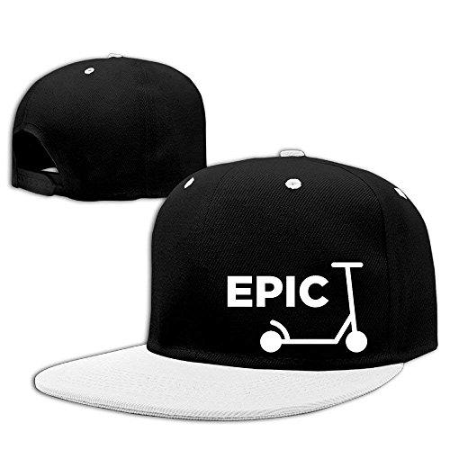Scooter Epic Hip Hop Baseballmützen Atmungsaktive Flat Bill Plain Snapback Hüte Royalblue Multicolor90