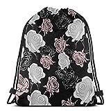 Kordelzug-Tasche für Damen, wasserdicht, aus Polyester, Strand-Rucksack für Reisen, Yoga, Outdoor