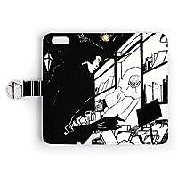 iPhoneケース 【手帳型】 「世界の名画」 ビアズリー/イエローブック 内容見本のデザイン - カード収納付 スマホケース スマホカバー
