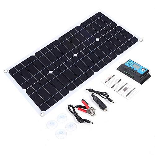 Kit de panel solar, 40W 5V, portátil, semi-flexible,monocristalino, silicio + kit de sistema solar,módulo fotovoltaico,sistema de controlador de carga solar para el hogar,autocaravana,caravana
