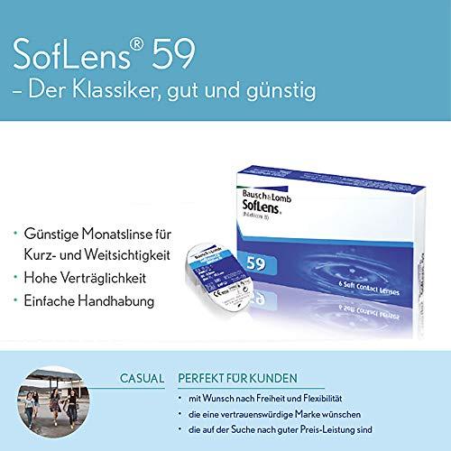 Soflens 59 Monatslinsen weich, 6 Stück / BC 8.6 mm / DIA 14.2 / -2,25 Dioptrien - 6