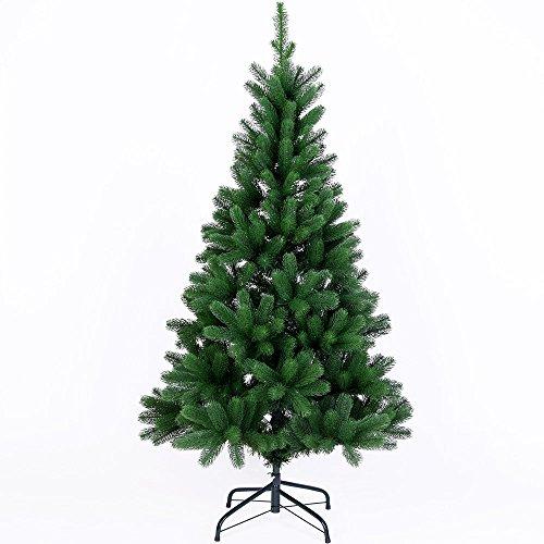 Deuba Weihnachtsbaum 140 bis 180 cm Edeltanne Ständer Spritzguss künstlicher Tannenbaum Tanne Weihnachten Grün 140 cm