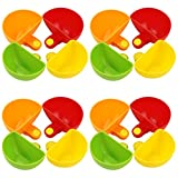 Faxco 16 Pack Dip Clip Bowl Plate Holder, Assorted Colors Plastic Dish Chip And Dip Serving Set Chip Clips Holders Cup Paper Plate Holder For Spice Tomato Sauce Salt Veggie Vinegar Ketchup Chips