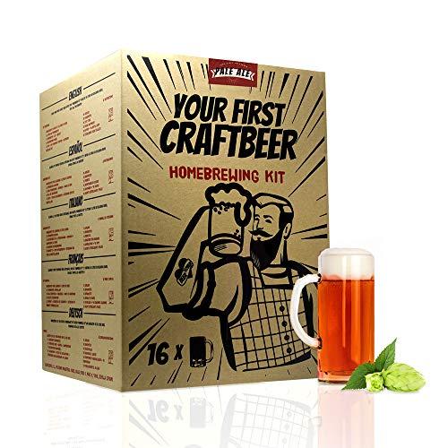 | Kit de extracto para hacer cerveza Pale Ale | Tu primera cerveza casera | 8 litros | Incluye densímetro | Elabora cerveza artesanal