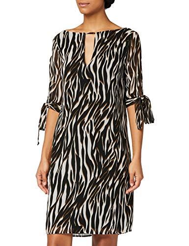 Amazon-Marke: TRUTH & FABLE Damen Chiffon-Kleid mit A-Linie, Mehrfarbig (Multi Colour), 38, Label:M