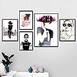 Modebuch Mädchen High Heel Lippenstift Poster Set