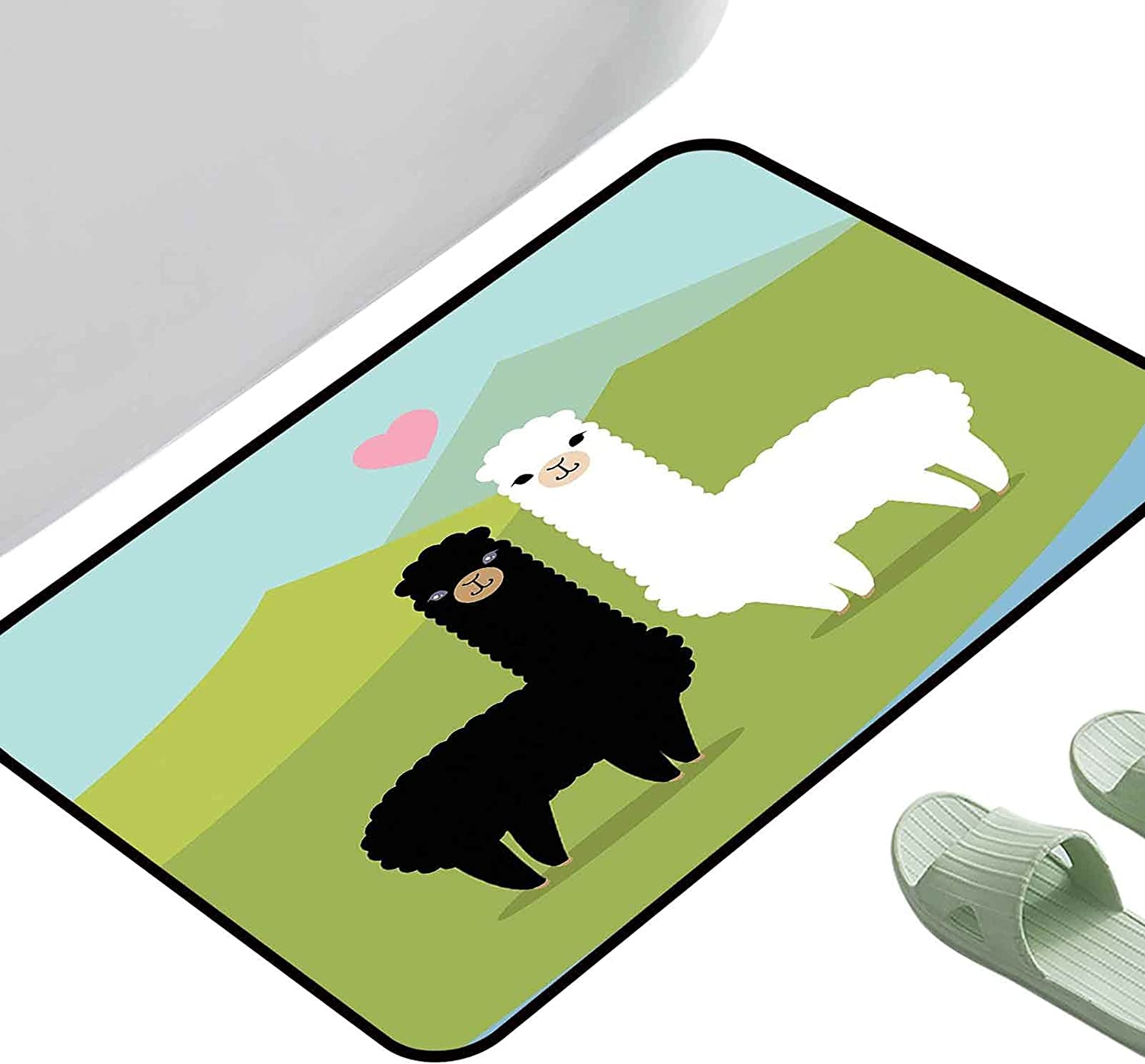 Home Animer and price revision Entrance Mats Llama Alpacas Ranking TOP6 The Mountains Fauna in Love