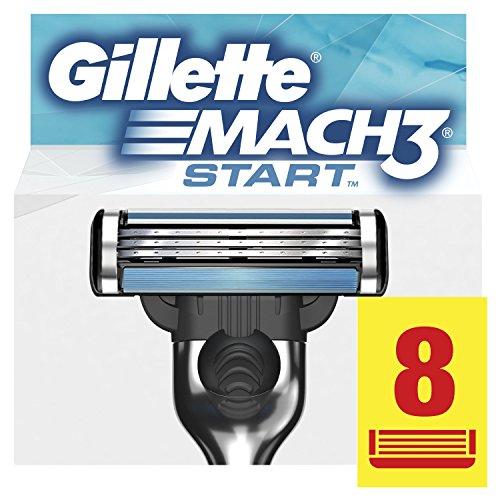Gillette Mach3 Start Lamette di Ricarica per Rasoio Uomo, Confezione da 8 Lamette di Ricarica per una Rasatura Profonda