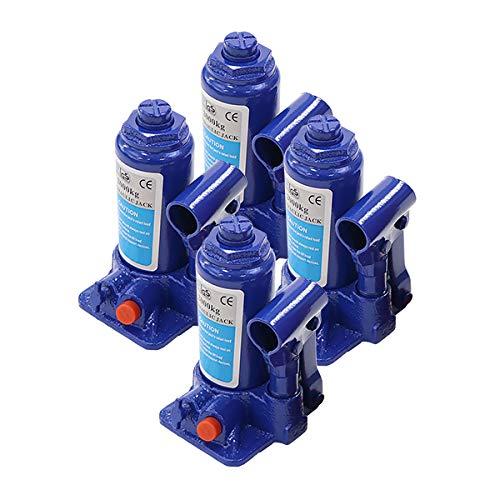 選べる2カラー 油圧式 ボトルジャッキ 定格荷重約2t 約2.0t 約2000kg 4台セット 4個 油圧ジャッキ だるまジャッキ ダルマジャッキ ジャッキ 手動 安全弁付き ジャッキアップ タイヤ交換 工具 小型 軽量 車載用 車 整備 修理 メンテナン