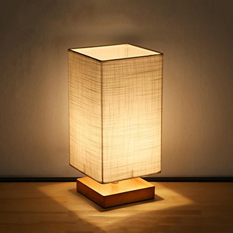 Pointhx Moderne Einfache Holz Nachttischlampe Desktop Nachtlaterne Wohnzimmer Schlafzimmer Schreibtisch Licht Cafe Restaurant Hotel Dekorative Schreibtischlampe (16  16  36 cm)