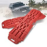 LITEWAY Traction Boards with Jack Lift Base- 2 Pcs Traction Mat for Sand Mud Snow Track Tire Ladder 4X4-4 Tons Load Recovery Traction Tracks.