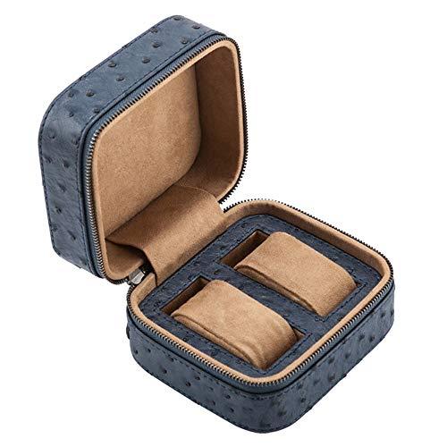 Caja de almacenamiento de reloj impermeable y a prueba de golpes Caja de almacenamiento de joyería de alta gama Caja de empaque de reloj Almohada extraíble con cremallera Caja de reloj (marrón / azu
