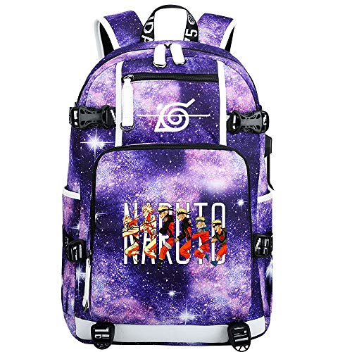 GOYING Uzumaki Naruto/Uchiha Itachi/Sharingan Anime Laptop Backpack Bag Travel Laptop Daypacks Lightweight Bag with USB-C