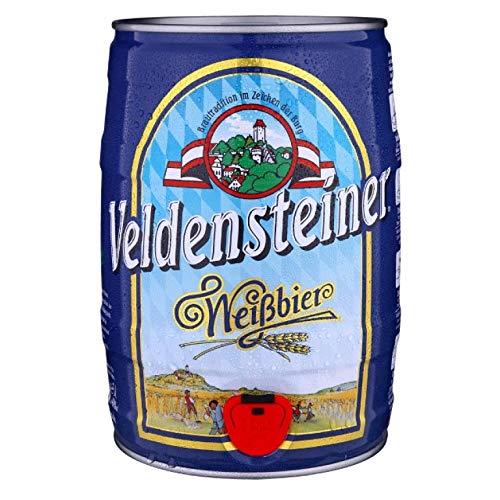 Veldensteiner Weißbier (1 x 5l) Fass/Dose - Weizenbier aus Bayern - ein unverwechselbarer Genuss