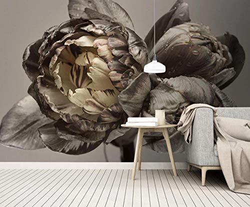 3D Fototapete Wandbild Braune Blume Vintage 3D Vliestapete Tapete Wandbilder Wohnzimmer Moderne Wanddeko