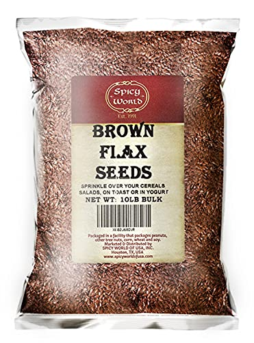 Spicy World Brown Flaxseed, 10 Pound Box