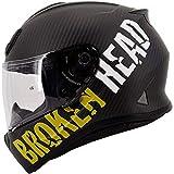 Broken Head BeProud Carbon Ltd. - Leichter Racing Motorradhelm & Integralhelm - Matt-Schwarz & Gelb...