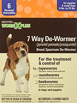 Sentry Worm X Plus 7 Way DeWormer Small Dogs  6 Count